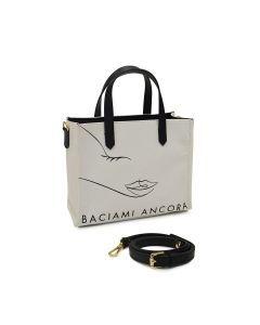 BACIAMI ANCORA- Tote Bag S-Bianco